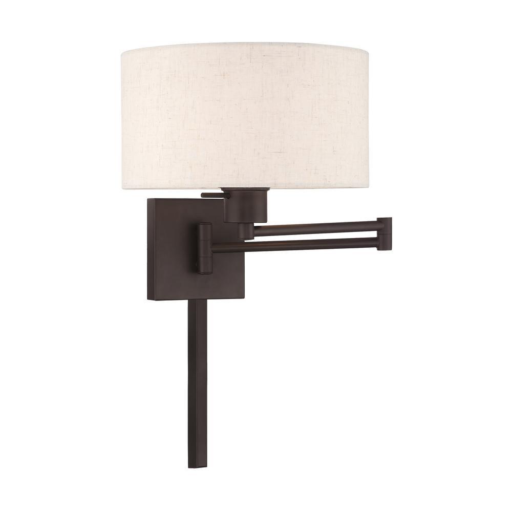 Swing Arm Wall Lamps 1 Light Bronze Swing Arm Wall Lamp