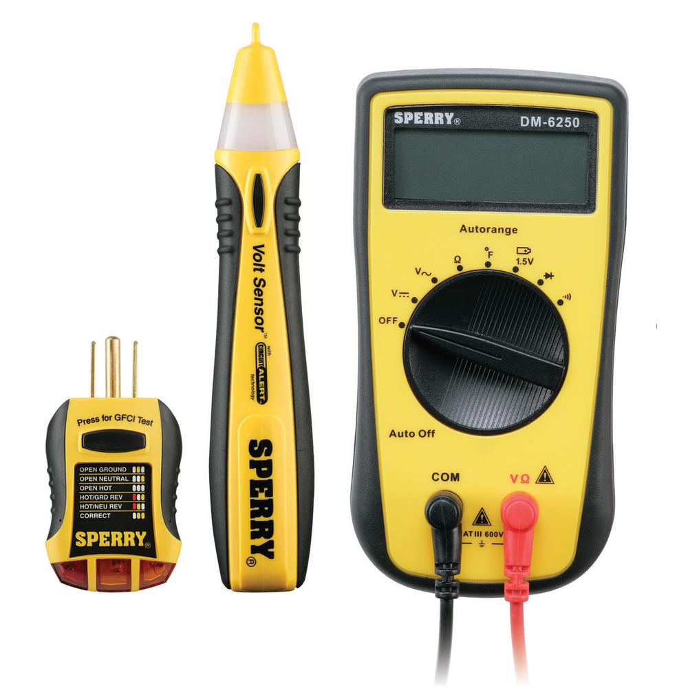 Electrical Meter Testers : Sperry piece professionals electrical tester kit sk