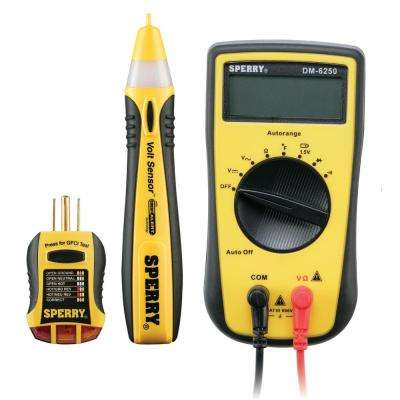 3-Piece Professionals Electrical Tester Kit