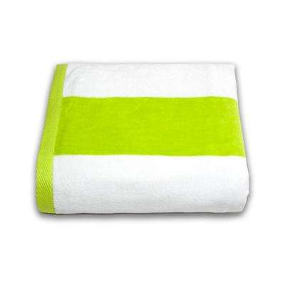 Tropical Cabana 100% Cotton Beach Towel in Lime