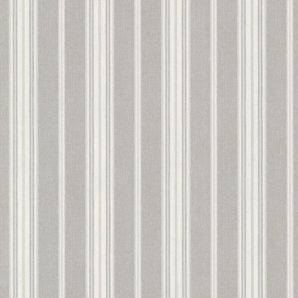 Jonesport Grey Cabin Stripe Wallpaper