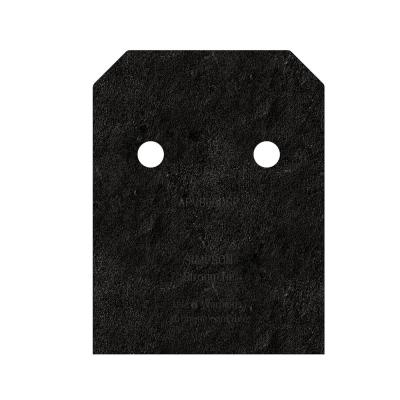 Outdoor Accents Avant Collection ZMAX, Black Post Base Side Plate for 6x Lumber (2-Pack)