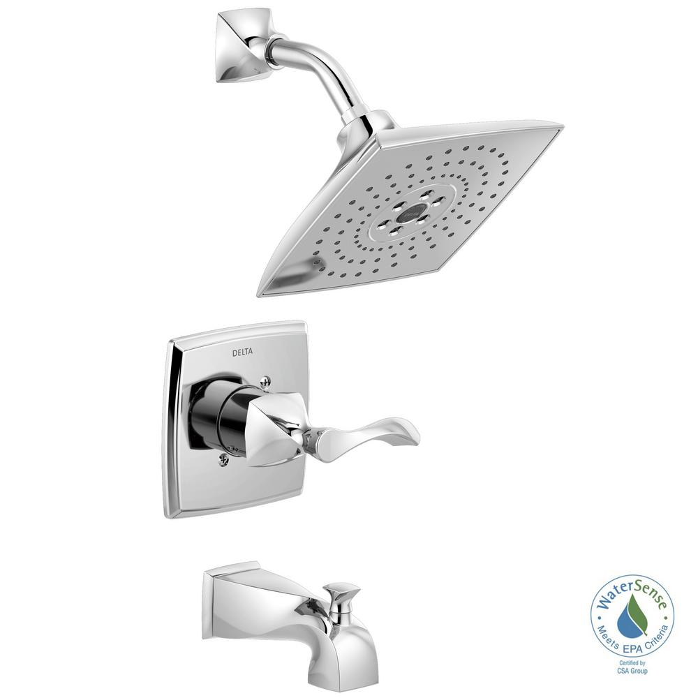 Delta Everly Single-Handle 3-Spray Tub and Shower Faucet with ...