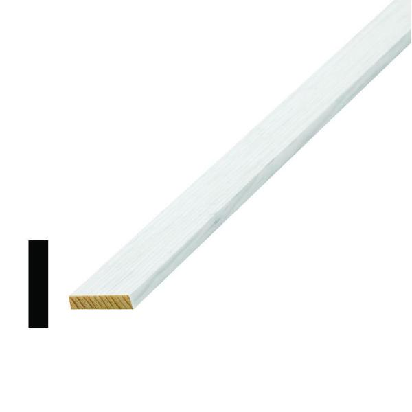 WM 268 1/4 in. x 1-1/8 in. x 96 in. Wood Primed Finger-Jointed Lattice Moulding