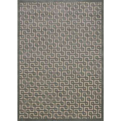Ultima Ivory/Green 3 ft. 6 in. x 5 ft. 6 in. Area Rug