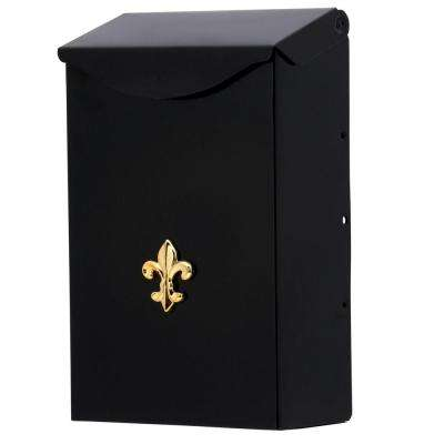 City Classic Small, Steel, Vertical, Wall-Mount Mailbox, Black