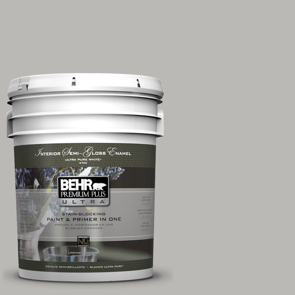 5-gal. #PPU18-11 Classic Silver Semi-Gloss Enamel Interior Paint