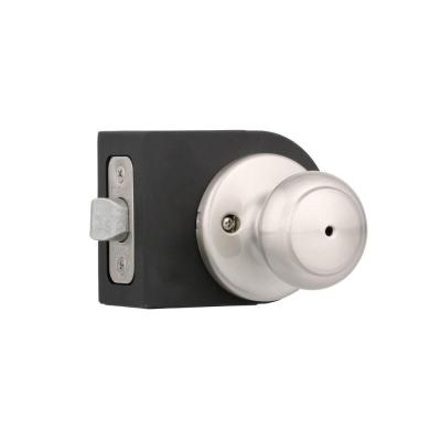 Cove Satin Nickel Bed/Bath Door Knob Featuring Microban Antimicrobial Technology