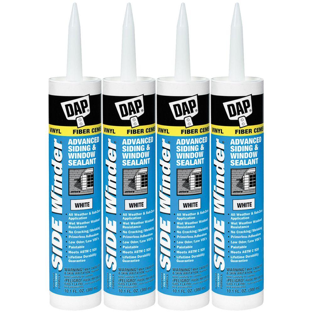 DAP 10.1 oz. White Sidewinder Advanced Siding and Window Sealant (4-Pack)-DISCONTINUED