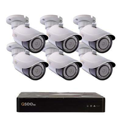 8-Channel IP Indoor/Outdoor Surveillance 2TB NVR System with (6) 4K Bullet Cameras