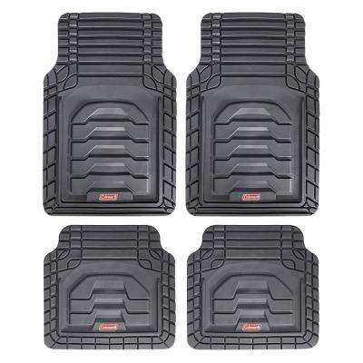 Gray All Weather 4-Piece 28.5 in. x 18.5 in. Adventure Class PVC Car Mat