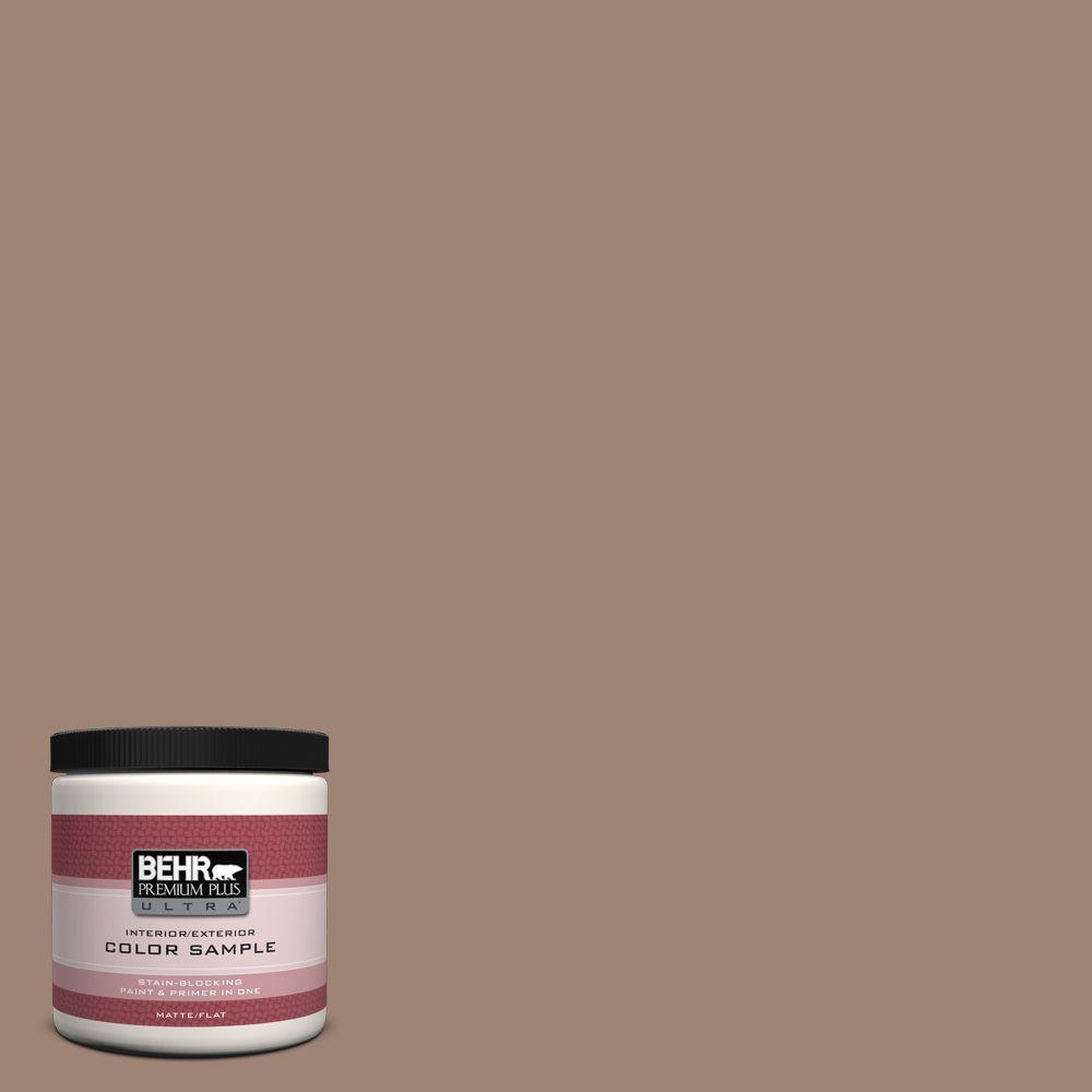 BEHR Premium Plus Ultra 8 oz. #760B-5 Blanket Brown Interior/Exterior Paint Sample