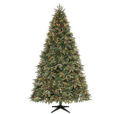 9 ft. Andes Fir Quick-Set Slim Artificial Christmas Tree with 900 Clear Lights