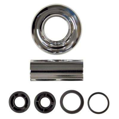 Universal Tube and Flange Assembly in Chrome