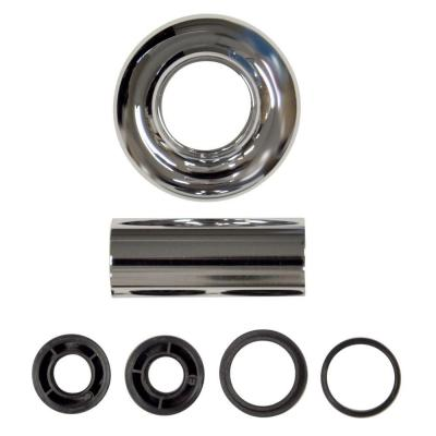 3 in. O.D. x 1-1/4 in. I.D. Zinc Universal Tube and Flange Assembly in Chrome