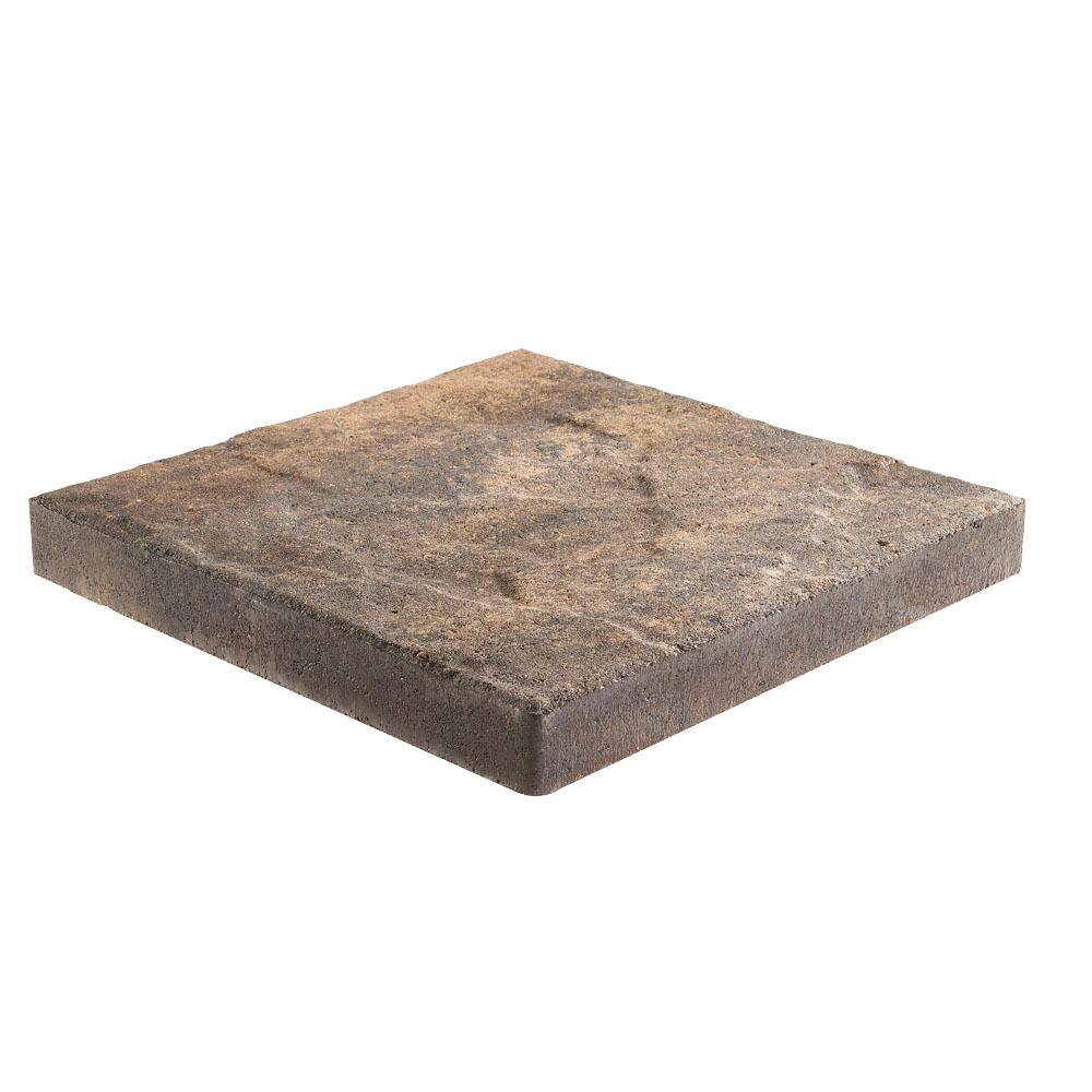 Pavestone Taverna 16 in. L x 16 in. W x 50 mm H Square and Brwn Charcoal Concrete Step Stone ( 72-Piece/124 ft./Pallet )