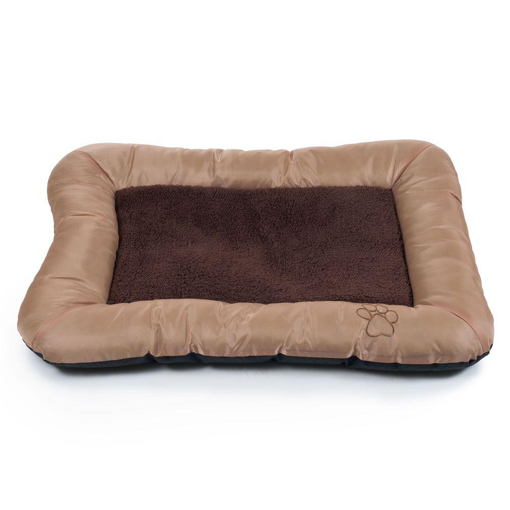 Extra Large Tan Plush Cozy Pet Crate Dog Pet Bed