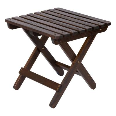 Adirondack Burnt Brown Square Wood Folding Table