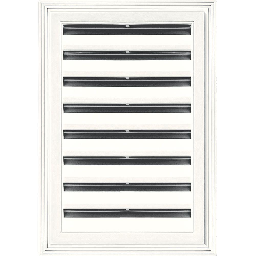Builders Edge 12 in. x 18 in. Rectangle Gable Vent #123 White