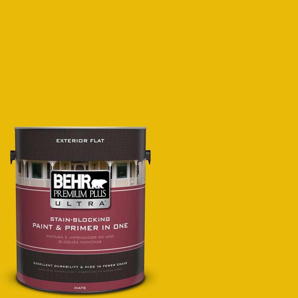 1-gal. #390B-7 Lemon Lime Flat Exterior Paint