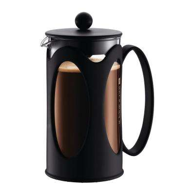 Kenya 8-Cup Black French Press Coffee Maker