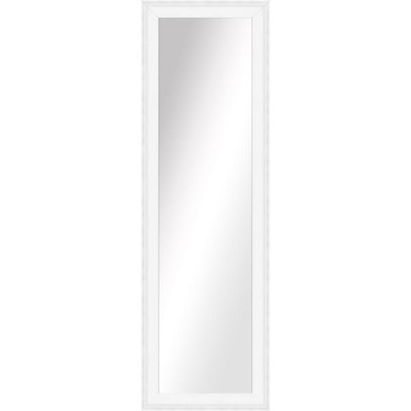 Large Rectangle White Art Deco Mirror (51.5 in. H x 15.5 in. W)