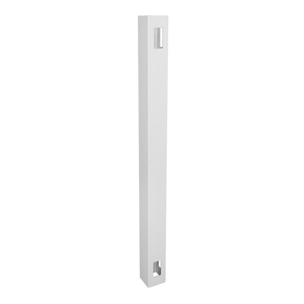 4 in. x 4 in. x 6 ft. White Vinyl Fence