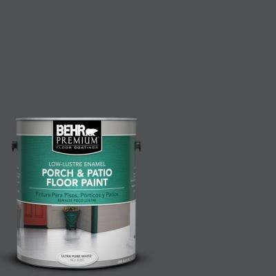1 gal. #BXC-30 Black Space Low-Lustre Porch and Patio Floor Paint