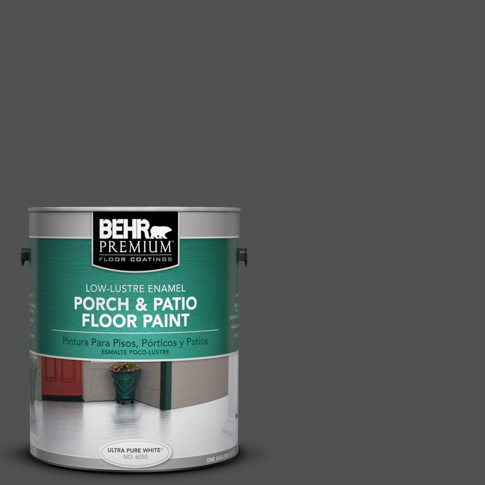 1 gal. #BXC-30 Black Space Low-Lustre Porch and Patio Floor Paint