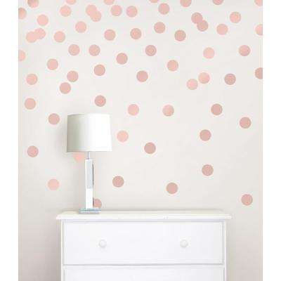 26 in. x 48 in. Rose Gold Confetti Dot 128-Piece Wall Decal