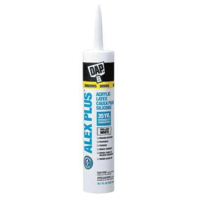 ALEX Plus 10.1 oz. White Acrylic Latex Caulk Plus Silicone (1,296 Units/Pallet)