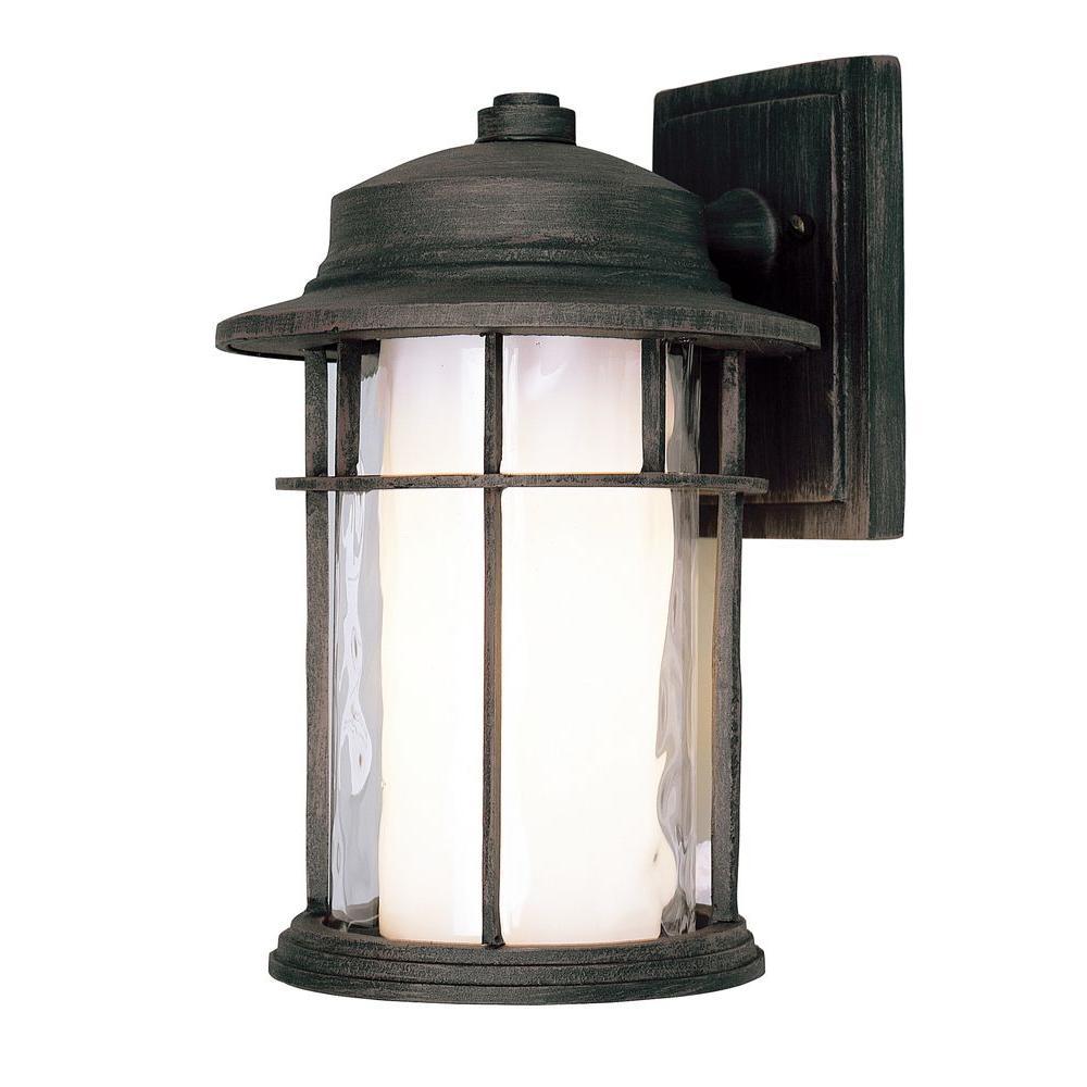Bel Air Lighting Stewart 6-Light Rust Outdoor LED Wall Lantern