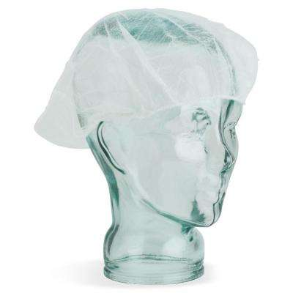 Large Nylon White Hair Net (100 per Pack)