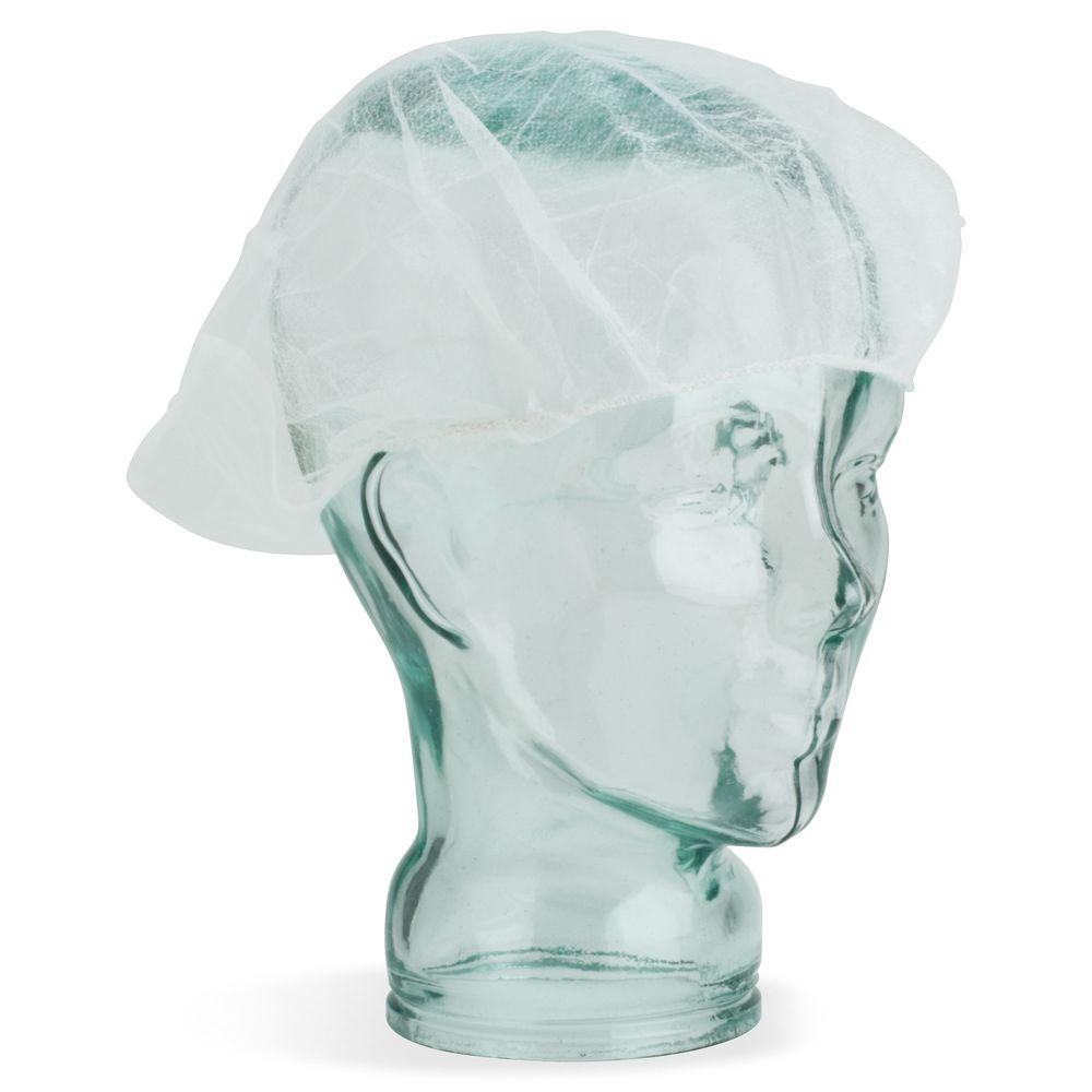 Large Nylon White Hair Net (100 per Pack)