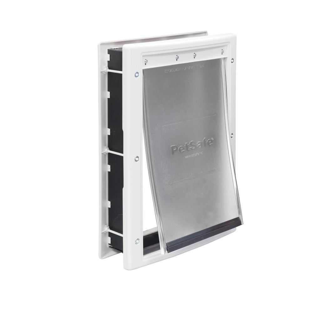 8-1/8 in. x 12-1/4 in. Medium White Plastic Pet Door