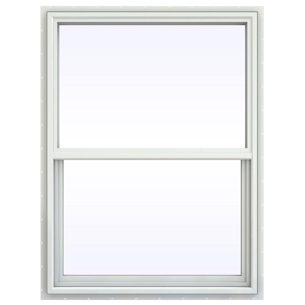 JELD-WEN 23.5 in. x 35.5 in. V-4500 Series Single Hung Vinyl Window - White