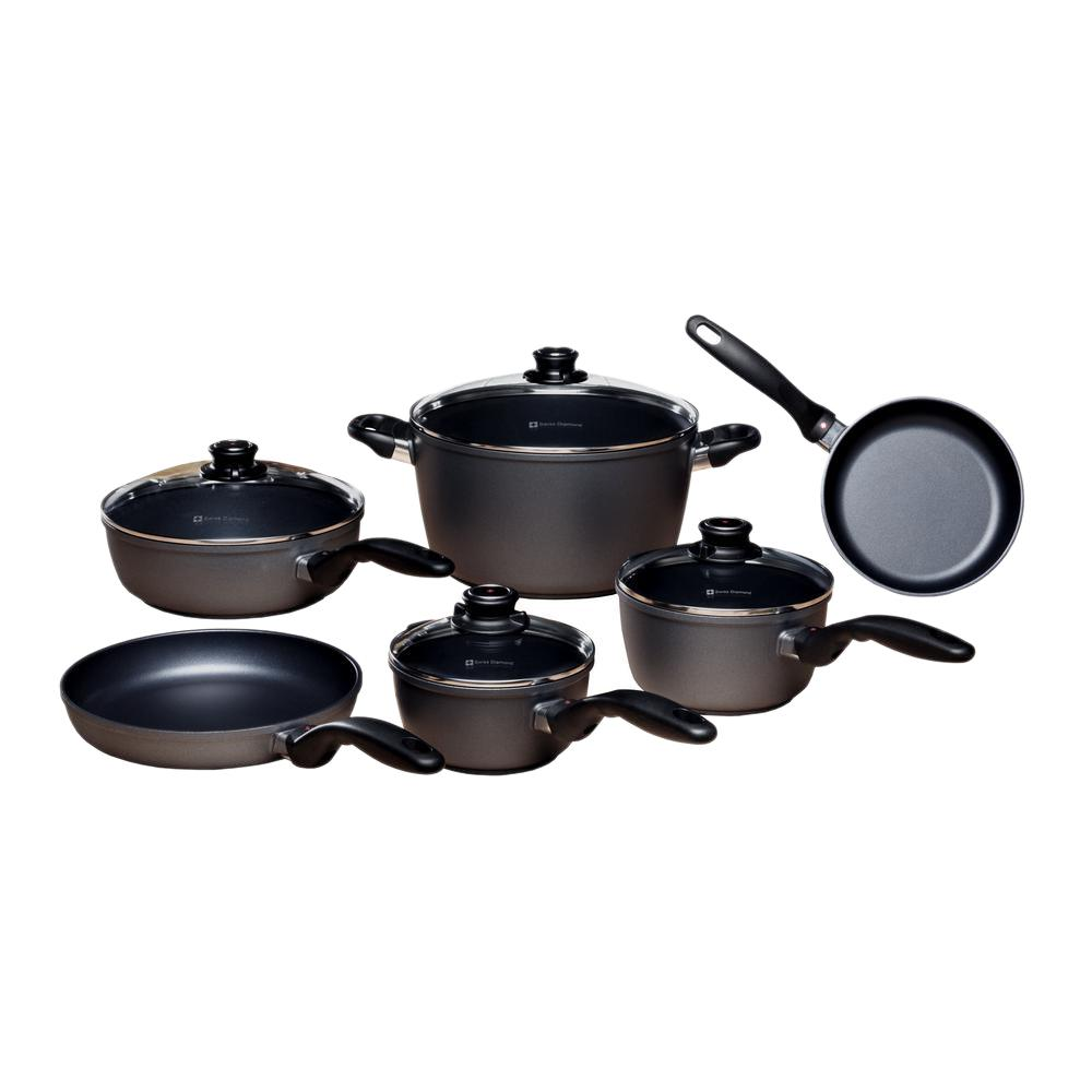 Swiss diamond classic series ultimate kitchen cookware set for Kitchen set classic