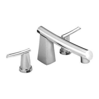 Green Tea 2-Handle Deck-Mount Roman Tub Faucet in Polished Chrome