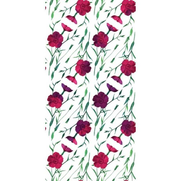 CGSignLab Crimson Flax Flower by Circle Art Group Removable Wallpaper Panel