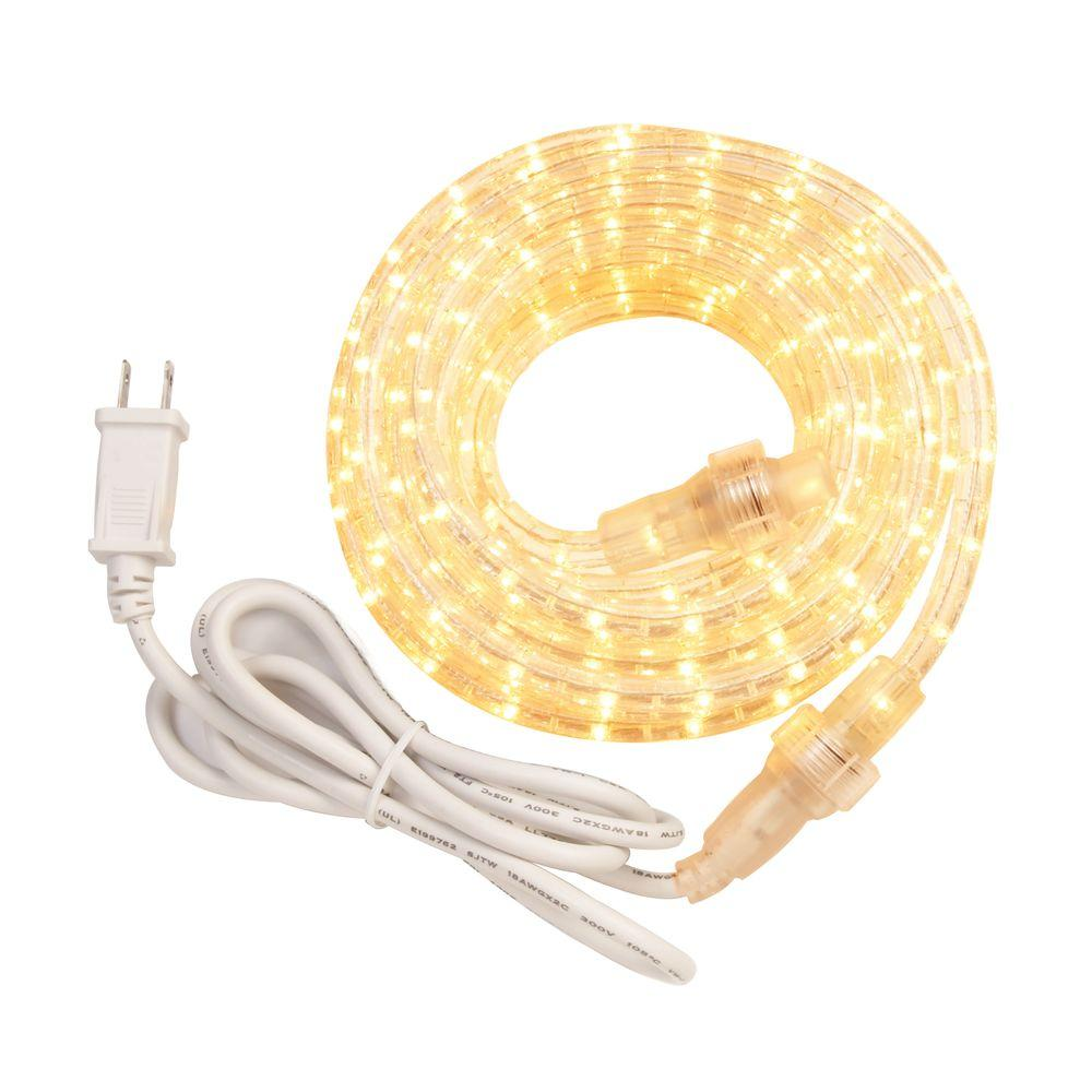 Westek 12 ft incandescent white rope light kit rw12bcc the home depot incandescent white rope light kit aloadofball Images