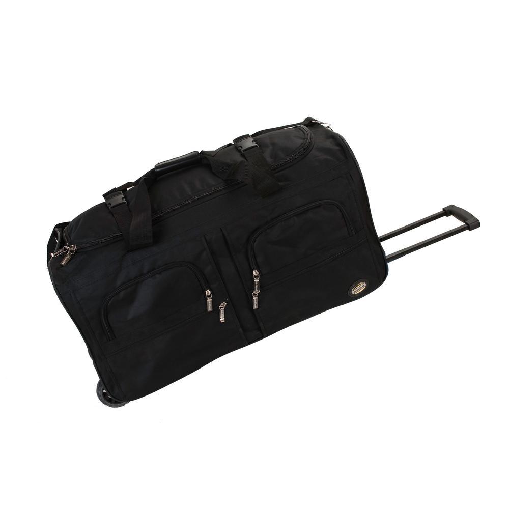 Rockland Voyage 30 in. Rolling Duffle Bag, Black