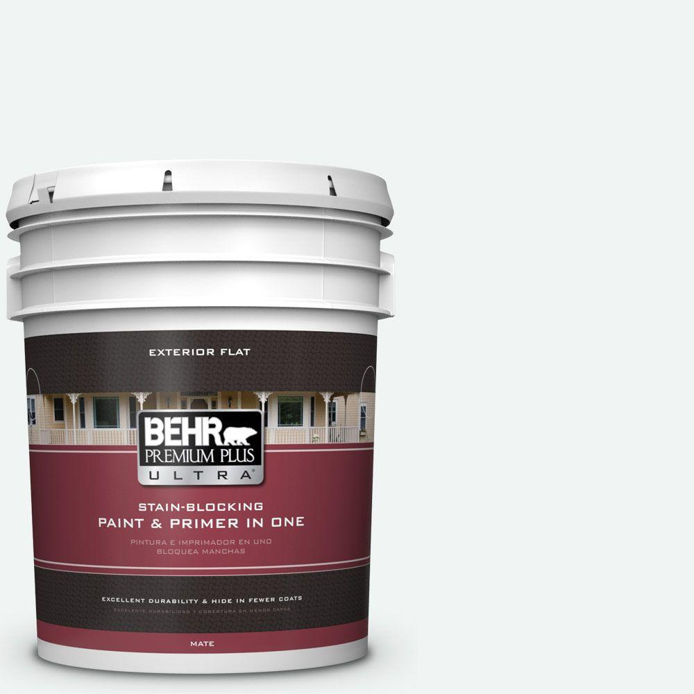 BEHR Premium Plus Ultra 5-gal. #BL-W9 Bakery Box Flat Ext...