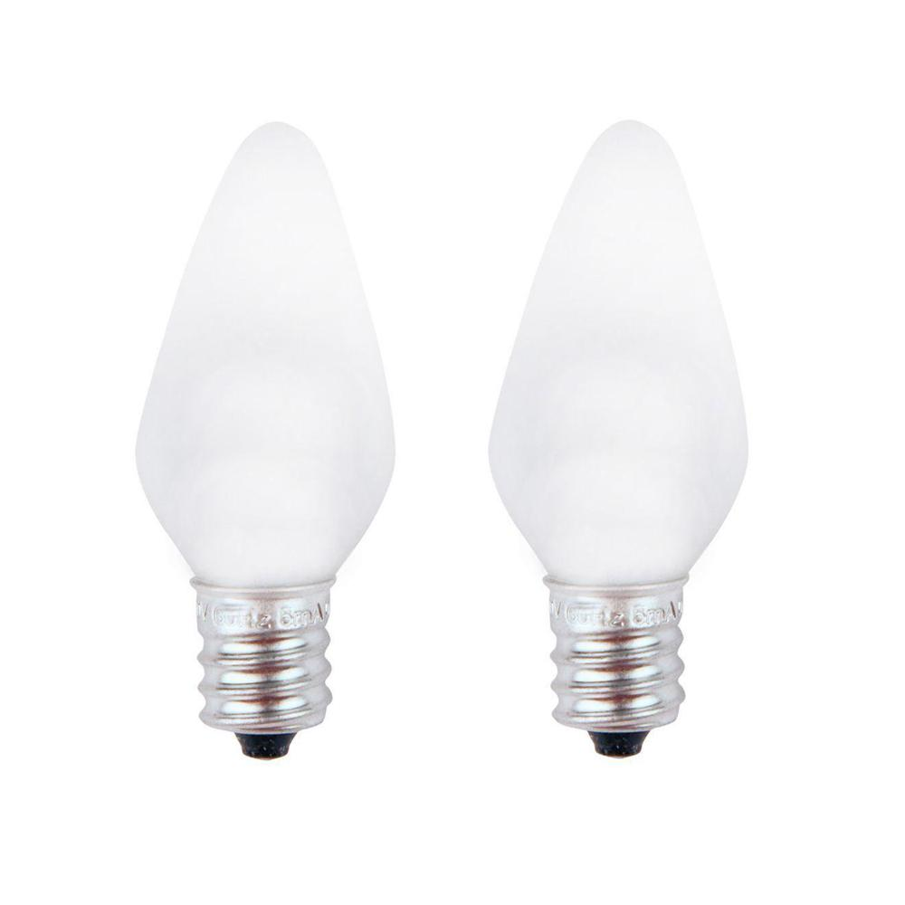 Meridian 7W Equivalent Bright White C7 Non-Dimmable LED Replacement Light Bulb (2-