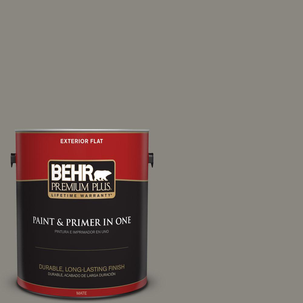 Home Decorators Collection 1-gal. #HDC-NT-23 Wet Cement Flat Exterior Paint