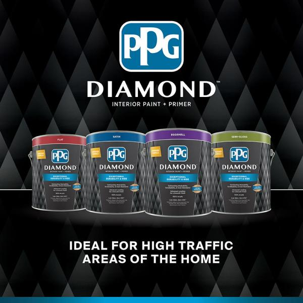 Reviews For Ppg Diamond 1 Gal Hdgg43 Morning Hush White Satin Interior Paint With Primer Hdgg43d 01san The Home Depot