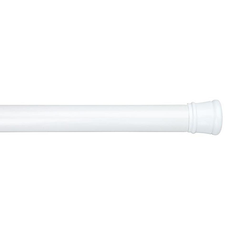 Tension Shower Rod in White