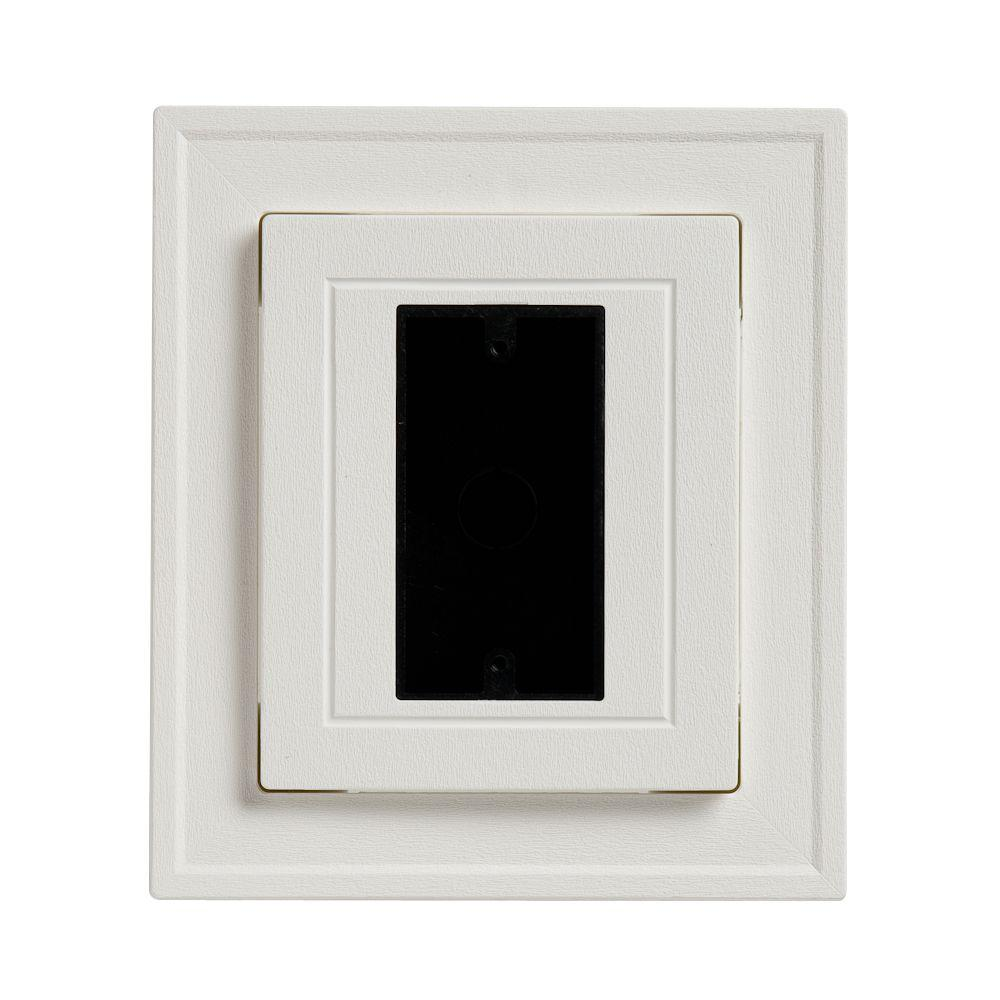 Ply Gem 8 5 In X 7 5 In White Electrical Mounting Block Eblckh04h The Home Depot