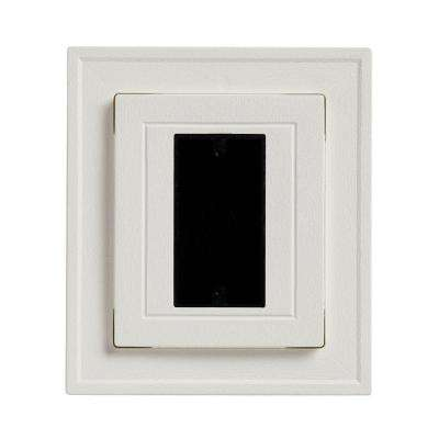 8.5 in x 7.5 in White Electrical Mounting Block