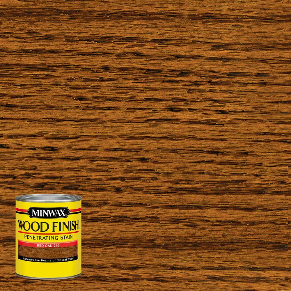 minwax 8 oz wood finish red oak oil based interior stain 22150 the home depot. Black Bedroom Furniture Sets. Home Design Ideas