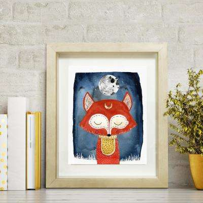 12 in. H x 10 in. W 'Dreaming Fox' by Wynwood Studio Printed Framed Wall Art
